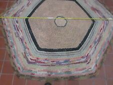 Large Vintage Hand Braided Multi Color Country/Farmhouse 6' Hexagon rug !
