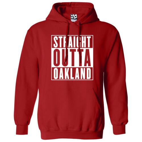 Straight Outta Oakland HOODIE Rep Yo City Hood Movie Parody Hooded Sweatshirt