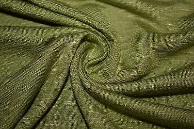 Jersey Knit Slub 97% Rayon 3% Spandex Lycra 42 Colors Apparel T-Shirt Fabric BTY