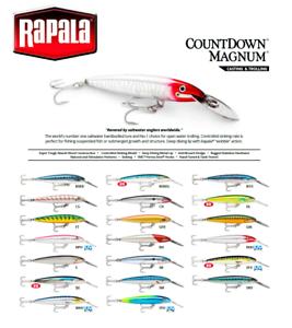Rapala-Countdown-MAGNUM-Peche-Leurre-Deep-Diving-7-cm-14-cm-12-g-36-g-VARIUOS
