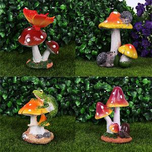 Etonnant Image Is Loading Snail Frog Mushroom  Miniature Dollhouse Ornament Flower Craft