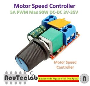 5A PWM Max 90W DC Motor Speed Controller Module 3V-35V Switch LED Dimmer