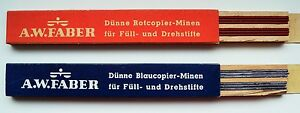 A-W-FABER-LEADS-MINEN1-18-mm-COLOR-RED-BLUE-2-TUBES-EACH-12-Pices-and100-mm-Long