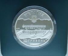"""Ukraine, 10 Hryven""""State Anthem of Ukraine"""" ,Silver 2005"""