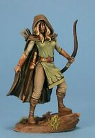 Dark Sword Miniatures: Female Ranger Dsm 4112 Bow Cloak Pewter Mini Gaming