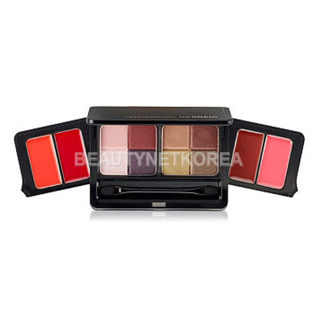 [THE SAEM] Lip & Eye Makeup Palette [Shadow 5.5g*2ea / Lip 1.4g*4ea] / Lip & Eye