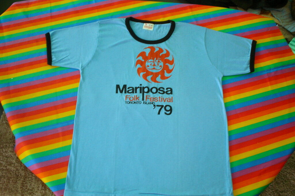 1979 MUSIC FOLK FESTIVAL CONCERT TEE SHIRT TgoldNTO 1979