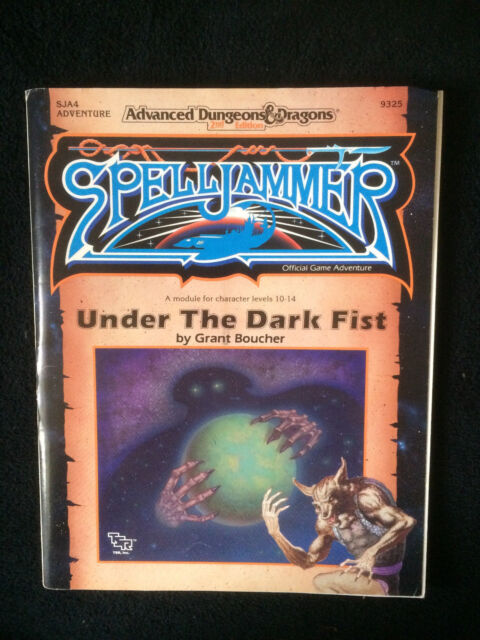 "AD&D 2nd Ed ""SPELLJAMMER UNDER THE DARK FIST + MAP SJA4 VNC 9325 TSR 1991"