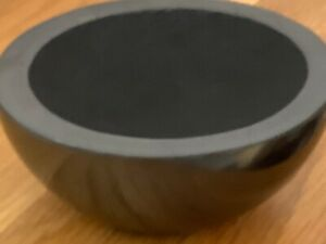 Shungite Bowl. Protection from EMF Geopathic Stress. Hand carved & polished.10cm