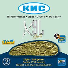 KMC X9L Gold Light 9 Catena Velocità Per Strada & Mtb Ciclismo