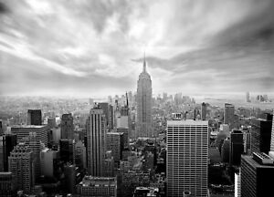 Details About Giant Wall Mural Photo Wallpaper New York City Skyline Black White Bedroom Decor