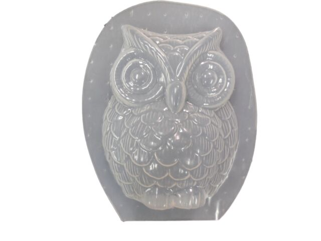 Plaster or Concrete Mold 7230 Moldcreations Medium Decorative Owl Garden Cement