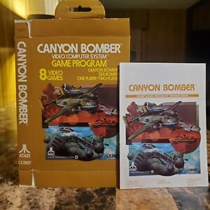 Canyon Bomber Box & Manual Only Atari 2600 Very Nice