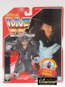 1993-WWF-Series-8-UNDERTAKER-Red-Card-Figure-Hasbro-Vintage-Wrestling-Figure