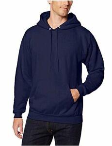 Hanes-Men-039-s-Pullover-EcoSmart-Fleece-Hoodie-Navy-Medium-Navy-Size-Medium