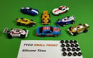 TYCO-440-Magnum-440X2-SMALL-FRONT-silicone-tires-HO-Slot-Car-8-pair-lot
