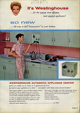 1957 PAPER AD Westinghouse Mid Century Modern Automatic Kitchen Appliance Center
