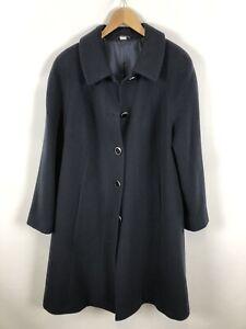 Damen-Mantel-Groesse-40-dunkel-blau-schlicht-schick-Schurwolle