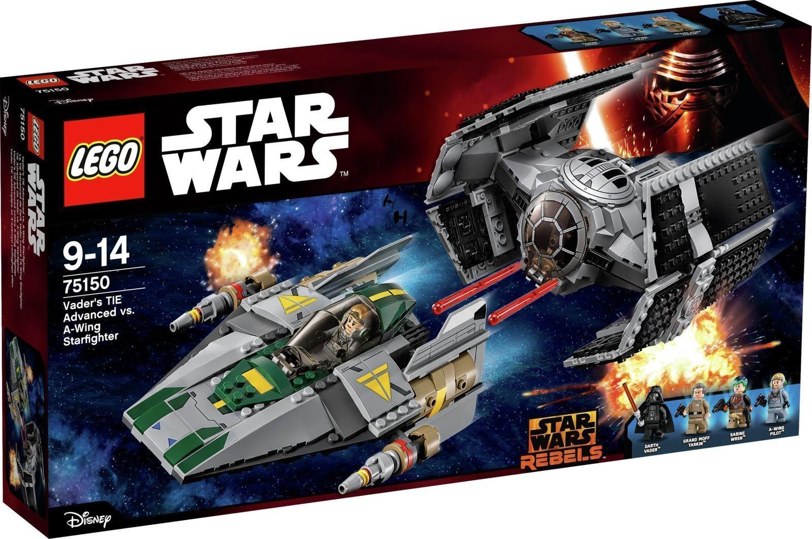 LEGO Star Wars Vader's TIE Advanced vs. A-Wing Starfighter - 75150.