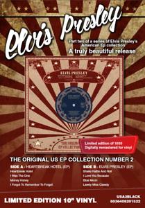 Coleccion-De-Elvis-Presley-nos-EP-2-10-034-Blanco-Ltd-Edition-Raro-Coleccionable-presionando