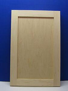 Maple Shaker Style Unfinished Cabinet Door Custom Sizes