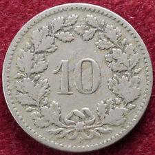 Switzerland 10 Rappen 1895 (B0809)