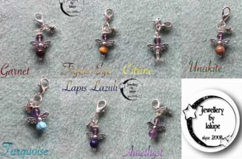 GUARDIAN CHAKRA ANGEL HANDCRAFTED CLIP ON//DANGLE TOTEM CHARM WITH 3D STAR