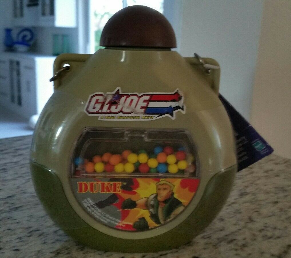 Vintage RARE G.I.Joe vs. Cobra Plastic Canteen Contains Dots Candy Hasbro NEW
