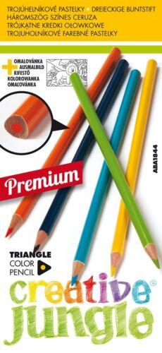 Premium Holzmalstifte Buntstifte Malstifte Triangle 12 verschiedene Farben