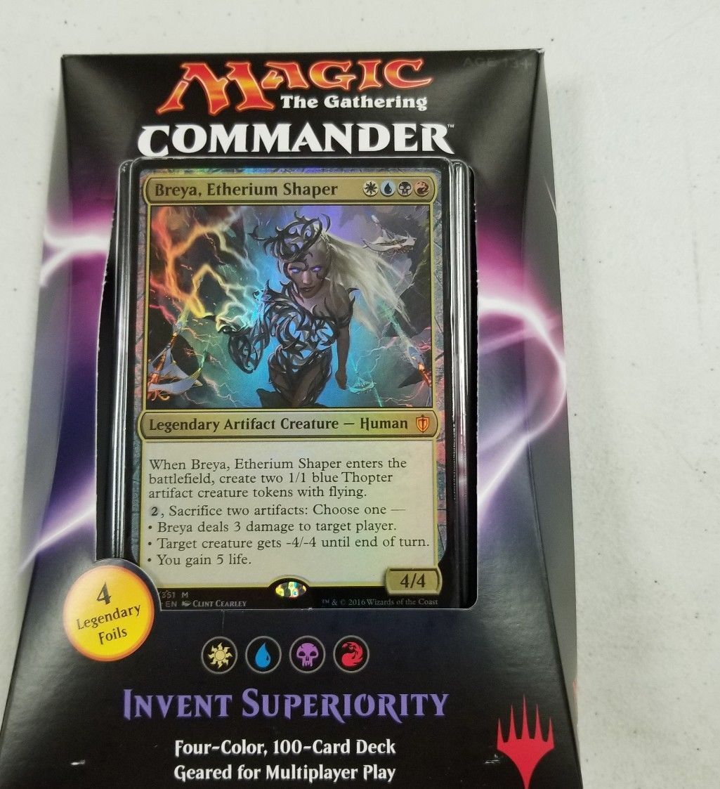 Magic the Gathering commander 2016 Invent superiority factory sealed MTG
