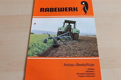Cheap Price 144526 Zeisig Sperber Fasan Rabewerk Prospekt 04/1980 For Fast Shipping Anbau-beetpflug