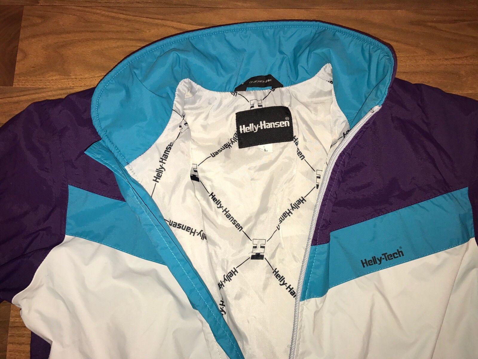 Vtg 80s HellyTech HELLY HANSEN Womens LARGE One Piece SKI SUIT Snow Bib Snowsuit