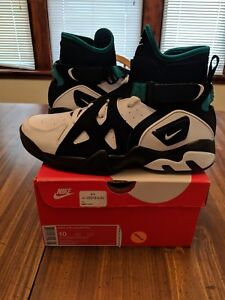 Nike-Air-Unlimited-Men-039-s-athletic-shoes-white-black-emerald-Size-10-889013001