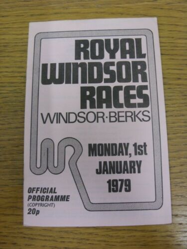 01011979 Horse Racing Programme Royal Windsor New Year Meeting Abandoned.