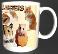 I LOVE HAMSTERS COFFEE MUG. HAMSTER LIMITED EDITION PERSONALISED GIFT.