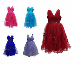 New-Girls-Wedding-Flower-Formal-Bridesmaid-Party-Dress-Size-Age-6-months-13