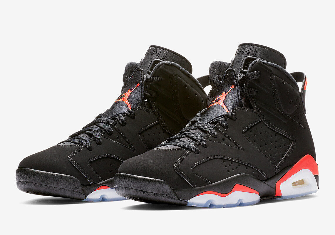 NEW 2019 Nike Air Jordan 6 VI Infrared Black 384664-060 100% NIB DS W Rec