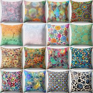 Divano Cuscini Colorati.Sn Qa Fiore Colorato Pois Moderno Cuscino Cover Divano