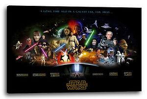 Lein-Wand-Bild: Star Wars Kollage Filmposter (vier Größen) (kein ...