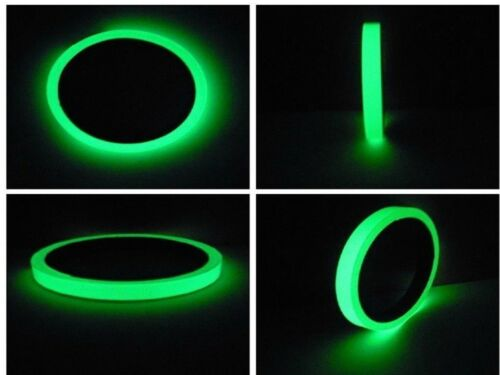 10 mm wide 3 meter long Glow in the Dark Tape