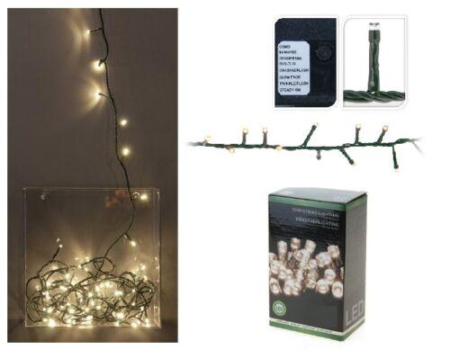 BATTERIE Weiß Warmweiß Innen /& Außen LED Lichterkette Timer Lichterschlauch