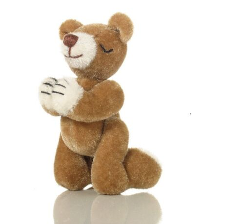 "World Of Miniature Bears Dollhouse Miniature 2.75/""  Pray Bear #5079 Amen"