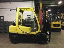 Hyster 6000 Lb Solid Pneumatic Forklift With Triple Mast And Side Shift