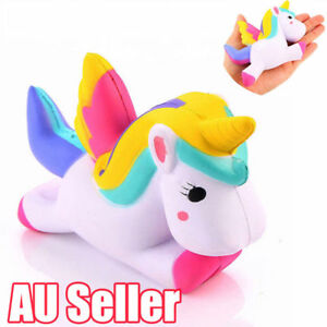 "4.5"" Jumbo Slow Rising Squishies Unicorn Kawaii Scented Soft Squishy Charms BK"