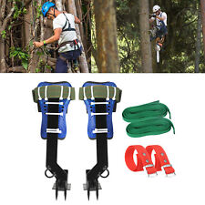Tree Climbing Spike Set 2 Gears Safety Belt Adjustable Lanyard Rope Rescue Qr