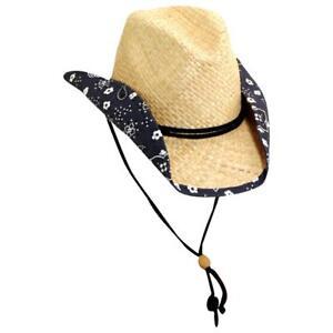 Youth-Girls-Western-Raffia-Cowboy-Hat
