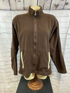 Patagonia Synchilla Full Zip Brown Fleece Jacket Woemne's Size Small