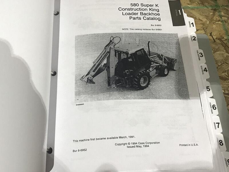 Case 580 Super K 580SK Cargador Retroexcavadora reparación Manual de de de servicio y piezas Catálogo fe707d