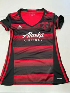 Details about Womens ADIDAS Red Portland Timbers Soccer Jersey Sz M