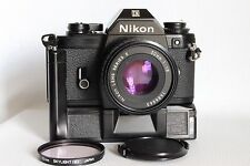NIKON EM 35 MM FILM CAMERA + SERIES E 50 MM 1:1.8 LENS + MDE WINDER GOOD (USED)